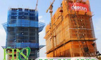 Ứng dụng của lưới che xây dựng