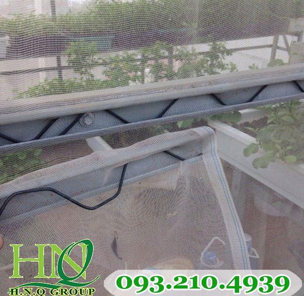Nẹp lò xo căng nhà trồng dưa lưới