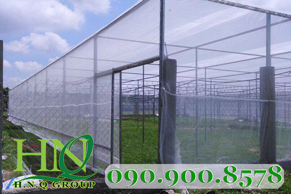 nhà lưới trồng rau kiểu kin