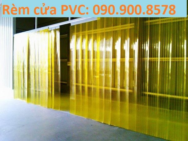 rèm PVC mầu vàng